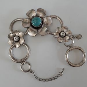 Artisan Silver Flowered Bracelet